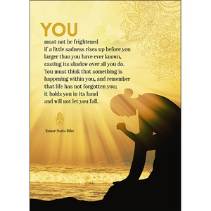A111 - You must not be frightened - Spiritual Greeting Card
