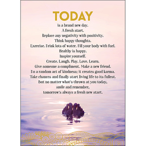 A112 - Today is a brand new day - Spiritual Greeting Card