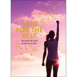 A113 - Hope for the best - Spiritual Greeting Card