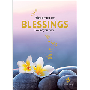 A79 - When I count my blessings - Spiritual Greeting Card