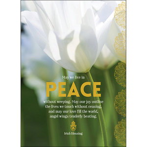 A95 - May We Live in Peace - Spiritual Greeting Card