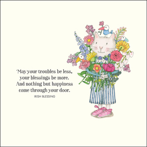 K253 - May your troubles be less and your blessings be more - Twigseeds Greeting Card