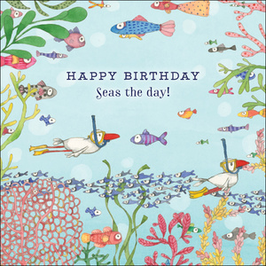K269 - Seas the day - Twigseeds Greeting Card