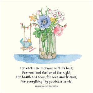 K304 - For each new morning - Twigseeds Greeting Card