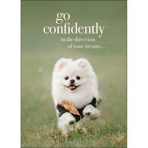 M105 - Go confidently - Animal greeting card