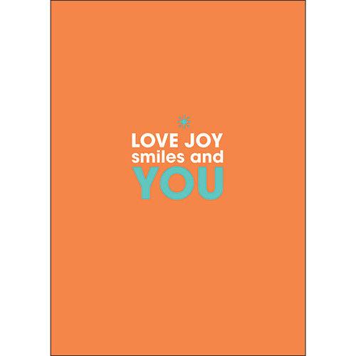F123 - Love joy smiles and you