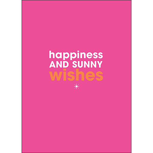 F126 - Happiness and sunny wishes